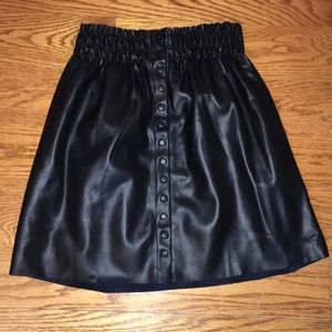Zara pleather black skirt size medium